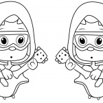Bubble Guppies Coloring Pages Under Guppy