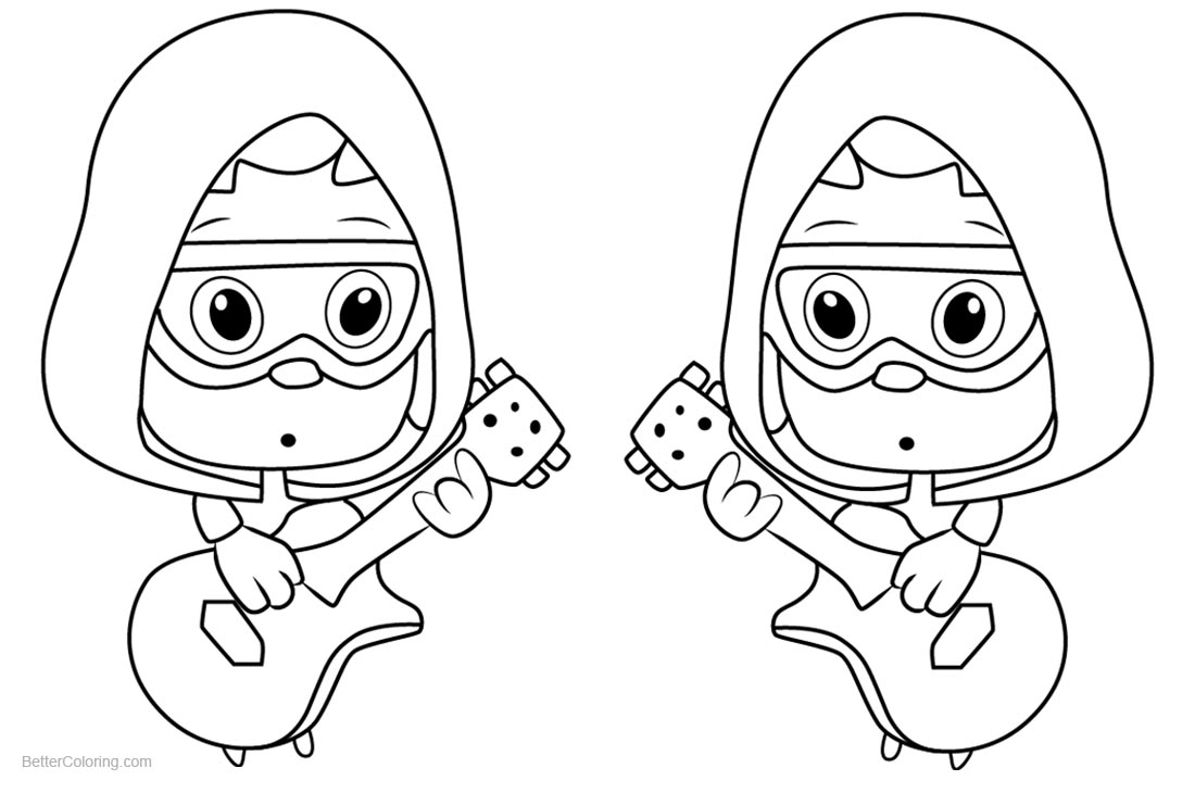 Bubble Guppies Coloring Pages Under Guppy printable for free