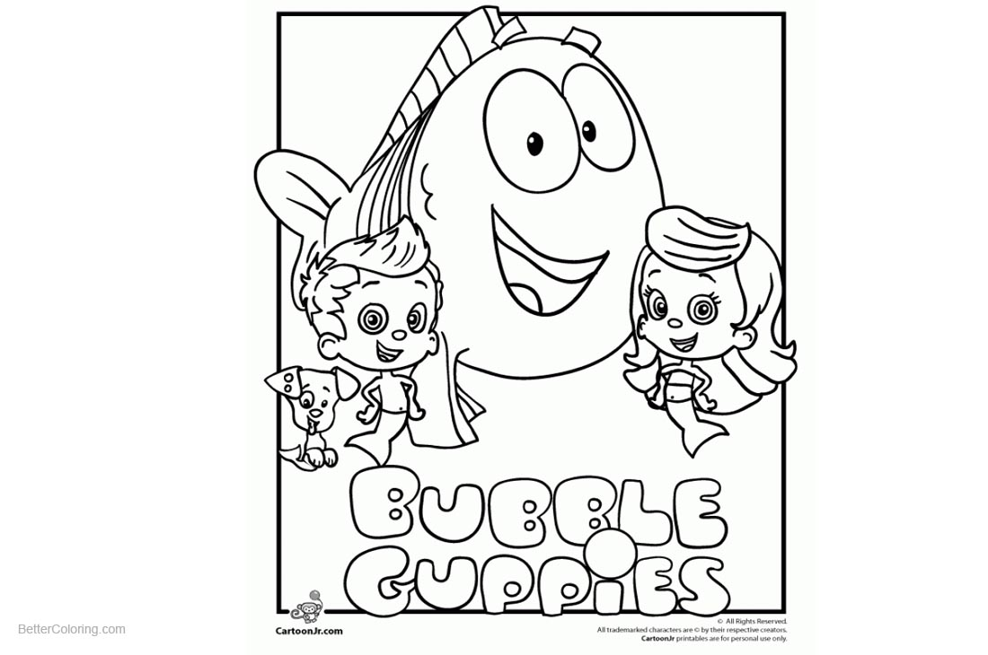 Bubble Guppies Coloring Pages printable for free