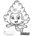 Bubble Guppies Deema Coloring Pages