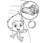 Bubble Guppies Gil Coloring Pages With Car