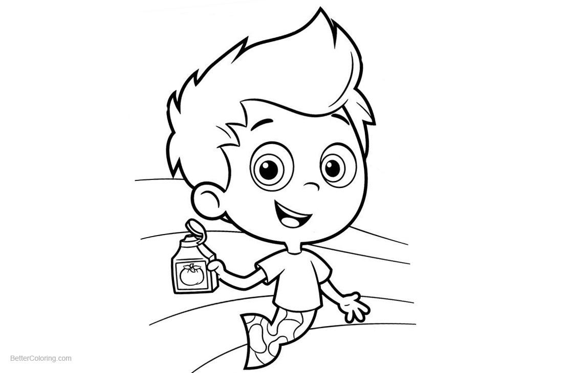 Bubble Guppies Gil Coloring Pages printable for free