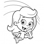Bubble Guppies Molly Coloring Pages Singing