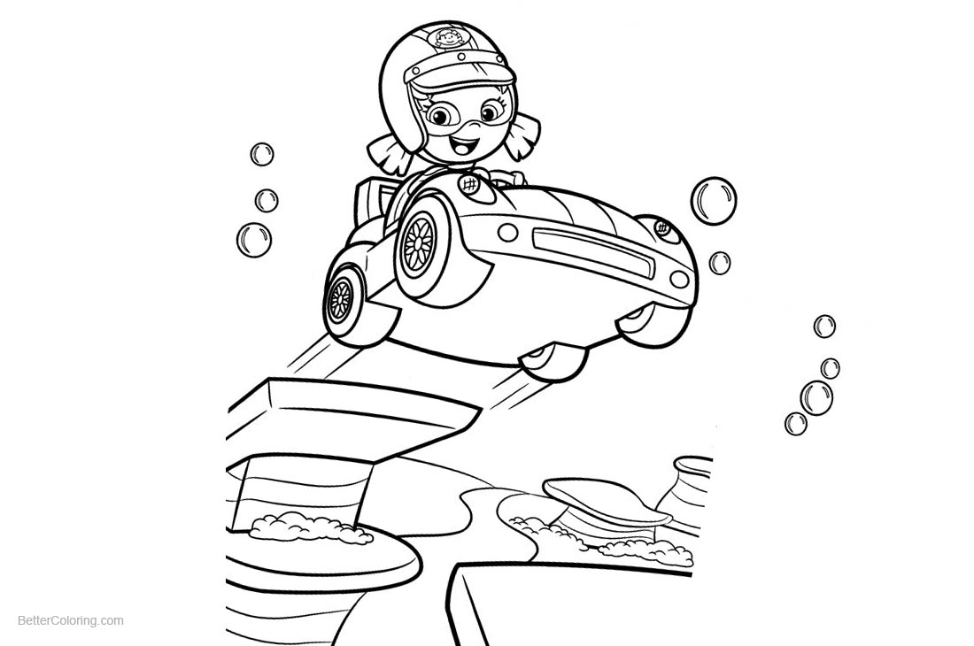 Bubble Guppies Oona Coloring Pages printable for free