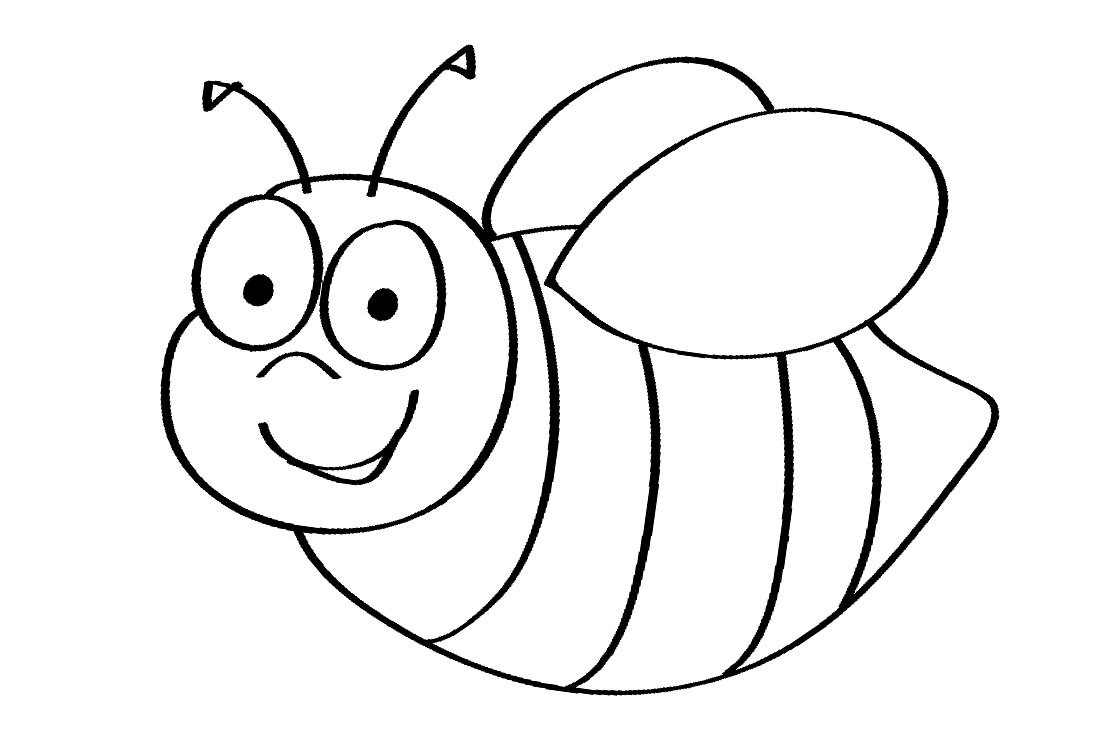 Bumblebee Coloring Pages Cartoon printable for free