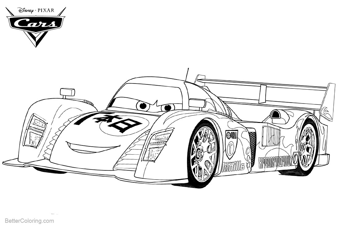 Cars 2 Pixar Coloring Pages Lightning