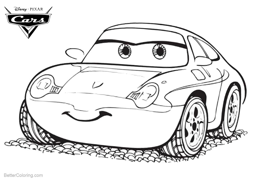 Cars Pixar Coloring Pages Lightning McQueen Clipart printable for free