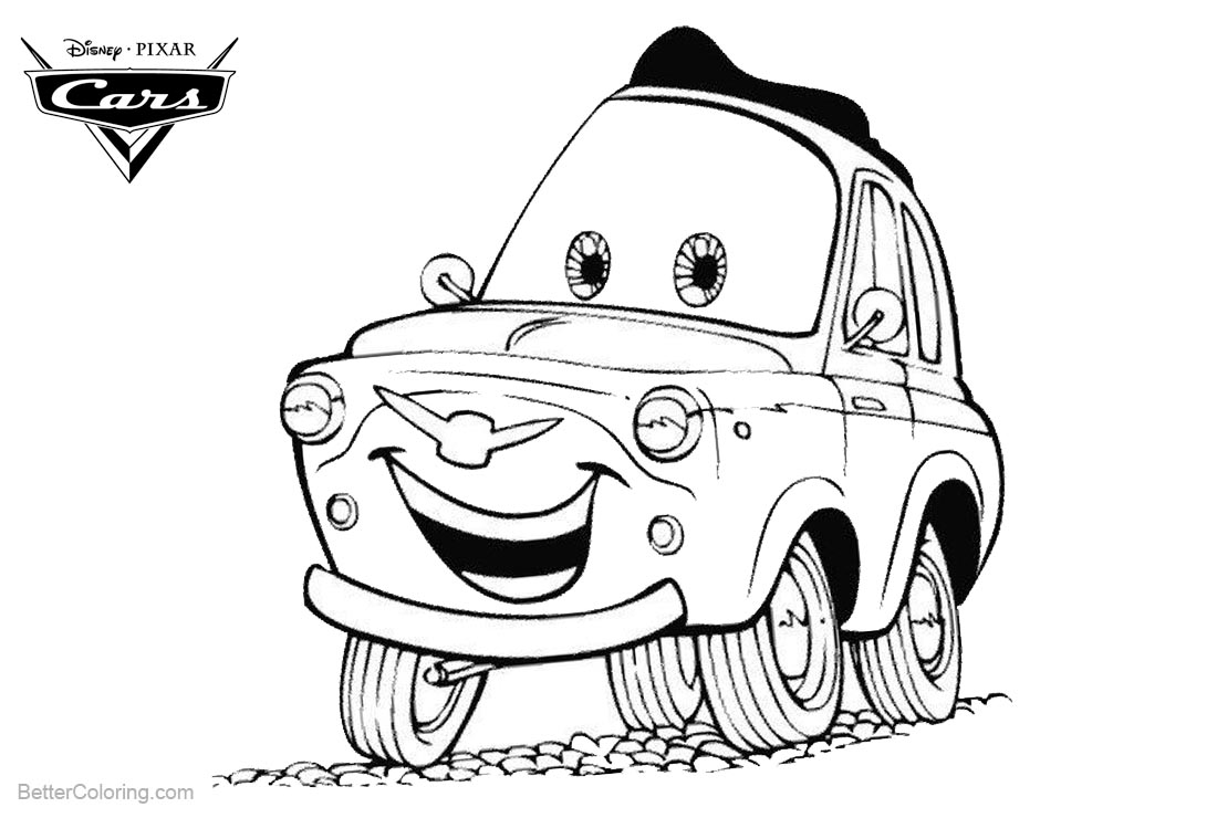 disney cars coloring pages luigi - photo#5