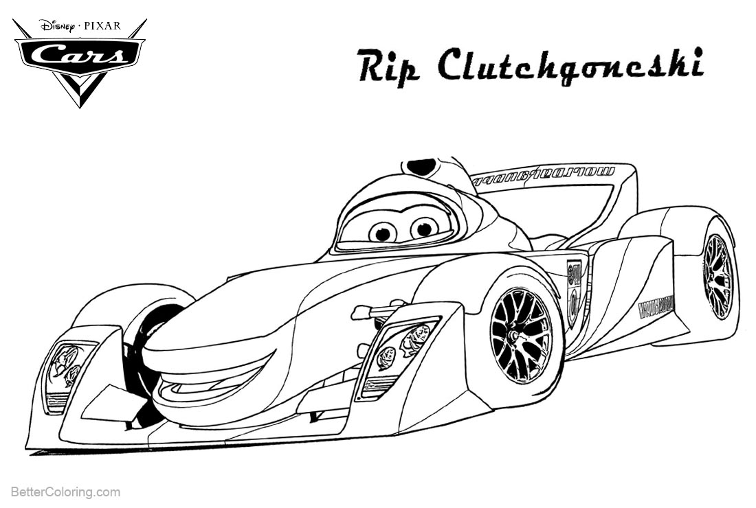 Cars Pixar Coloring Pages Super Car printable for free