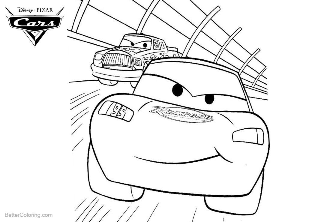 Cars Pixar Lightning Mcqueen Coloring Pages Free Printable