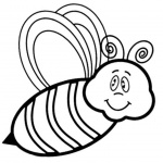 Cartoon Bumblebee Coloring Pages