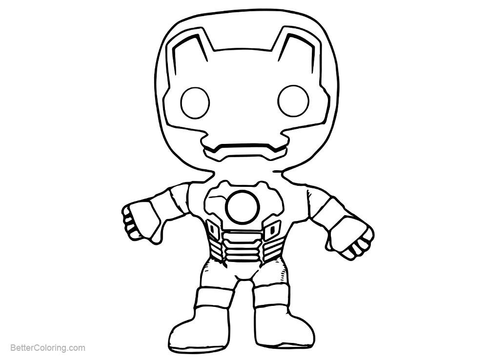 Free Cartoon Chibi Iron Man Coloring Pages printable