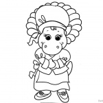 Character from Barney Coloring Pages