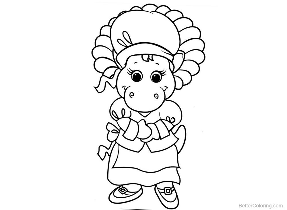 Character from Barney Coloring Pages printable for free