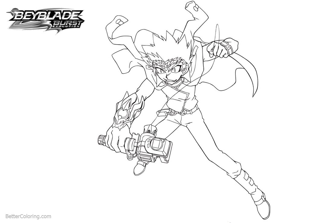 Free Character from Beyblade Burst Coloring Pages printable
