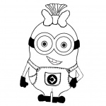 Character from Minion Coloring Pages