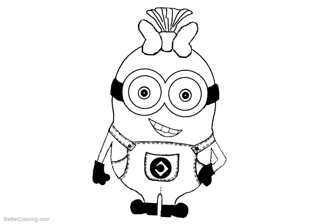 Character from Minion Coloring Pages printable for free