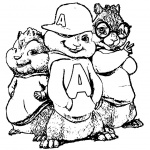 Characters from Alvin and The Chipmunks Coloring Pages