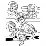 Characters from Bubble Guppies Coloring Pages