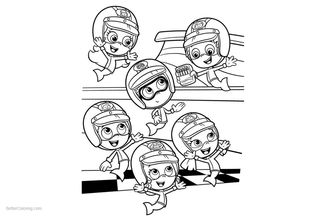 Characters from Bubble Guppies Coloring Pages - Free Printable ...