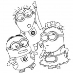 Characters from Despicable Me Minion Coloring Pages