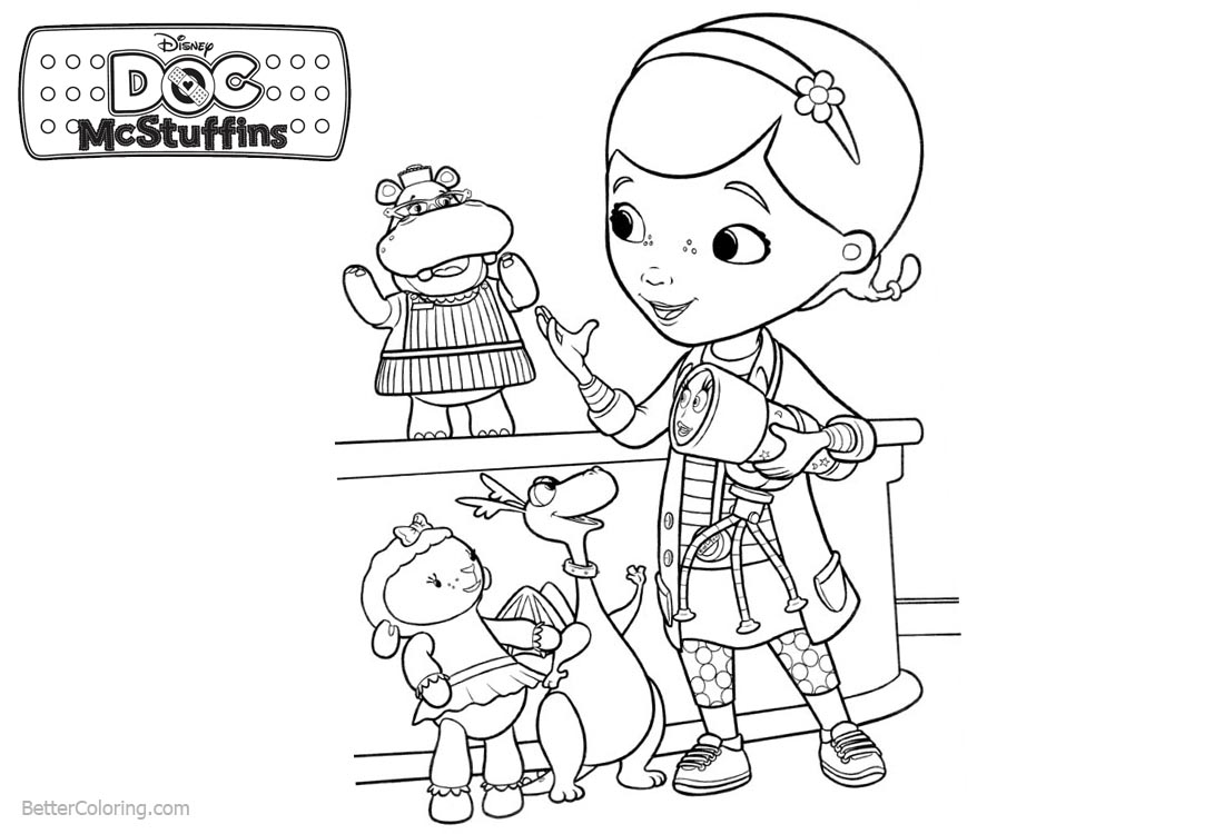 Characters from Doc McStuffins Coloring Pages printable for free