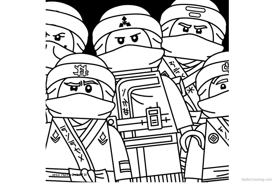 Characters from Lego Ninjago Coloring Pages - Free Printable ...