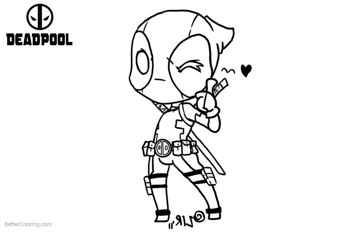 Snap deadpool symbol coloring pages fresh cool deadpool for Chibi deadpool coloring pages