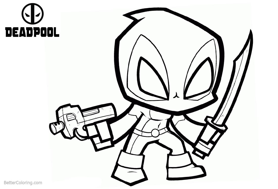 Chibi deadpool coloring pages free printable coloring pages for Chibi deadpool coloring pages