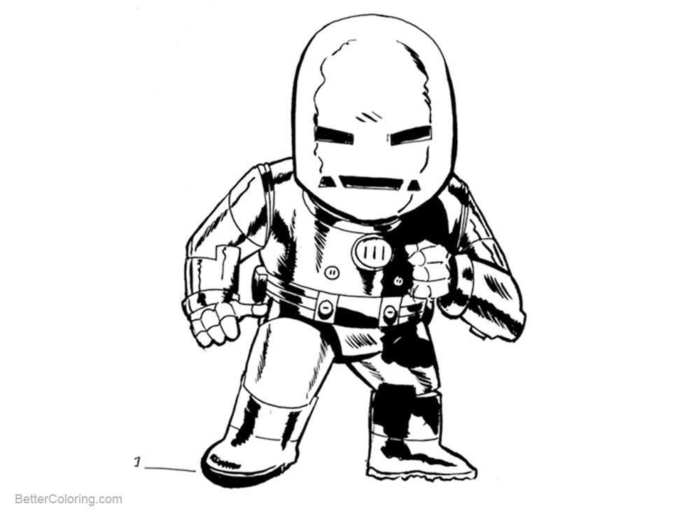 Chibi Iron Man Coloring Pages Zombie Fanart - Free Printable ...