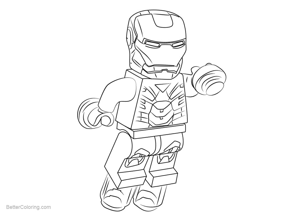 Chibi Lego Iron Man Coloring Pages - Free Printable Coloring Pages