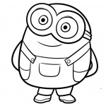 Chibi Minion Coloring Pages