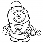 Chibi Minion Coloring Pages Line Drawing