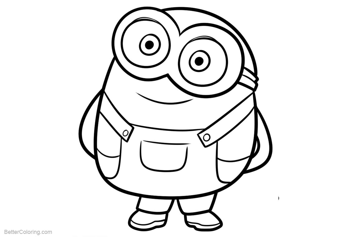 printable minions coloring pages to print | Chibi Minion Coloring Pages - Free Printable Coloring Pages