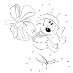 Christmas Disney Coloring Pages Connect Dots Activity