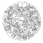Christmas Mandala Coloring Pages Christmas Presents