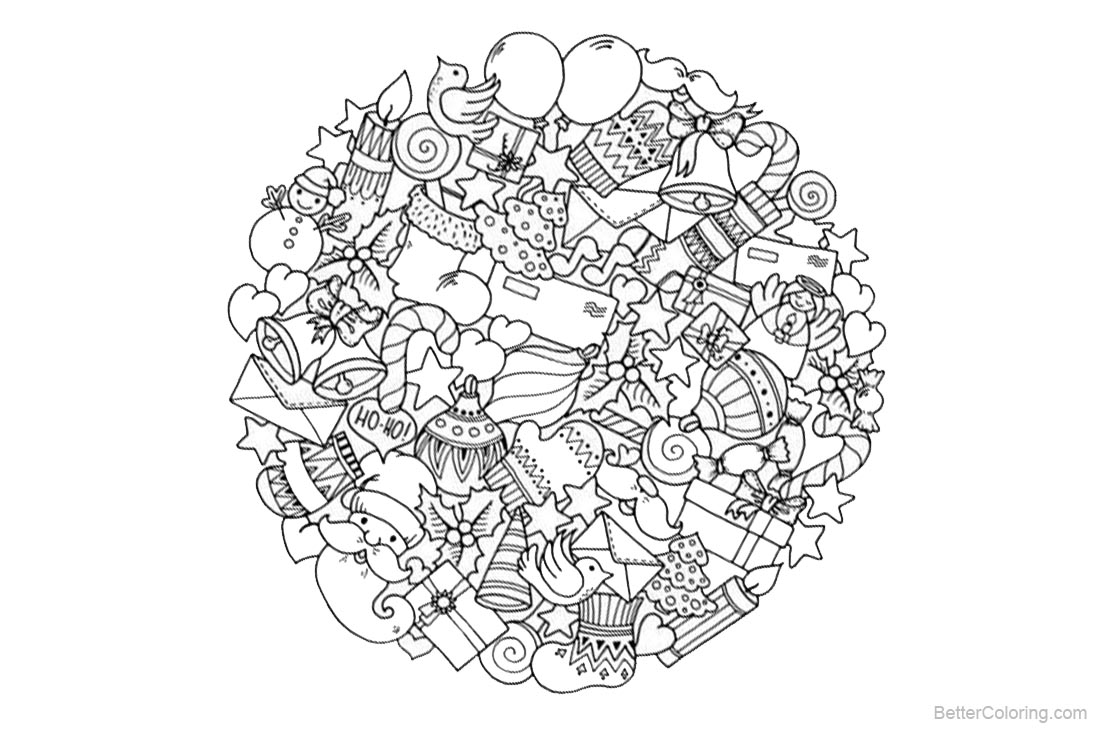 Christmas Mandala Coloring Pages Christmas Presents - Free Printable ...