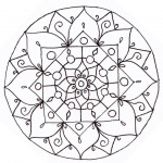 Christmas Mandala Coloring Pages Lineart