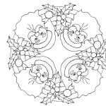 Christmas Mandala Coloring Pages Santa Pattern