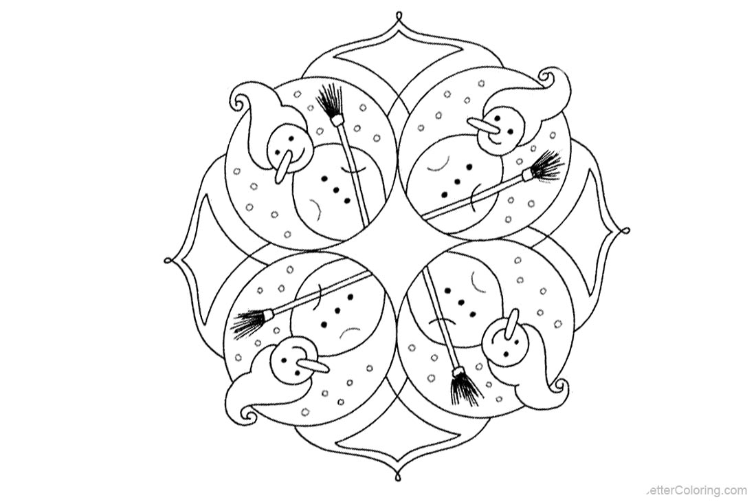 Christmas Mandala Coloring Pages - Free Printable Coloring Pages