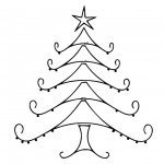 Christmas Tree Coloring Pages Line Art