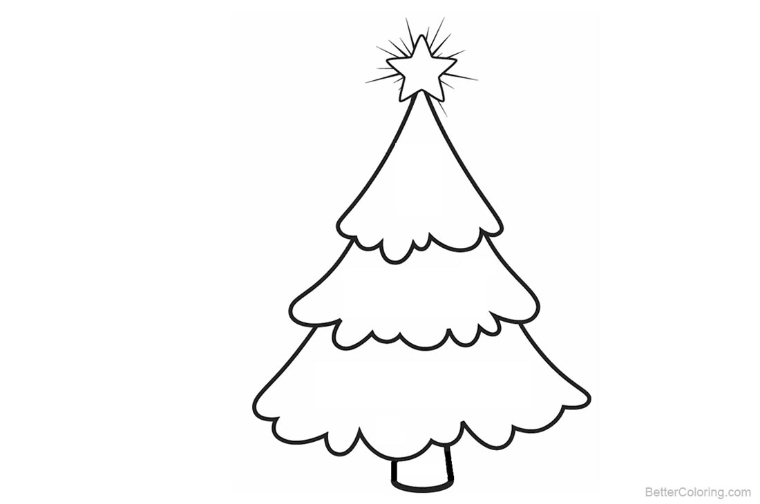 Christmas Tree Coloring Pages printable for free