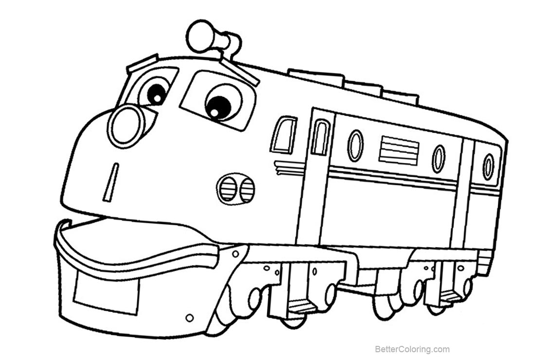 Chuggington Coloring Pages Brewster Train Wilson Koko Speedy - Free ...