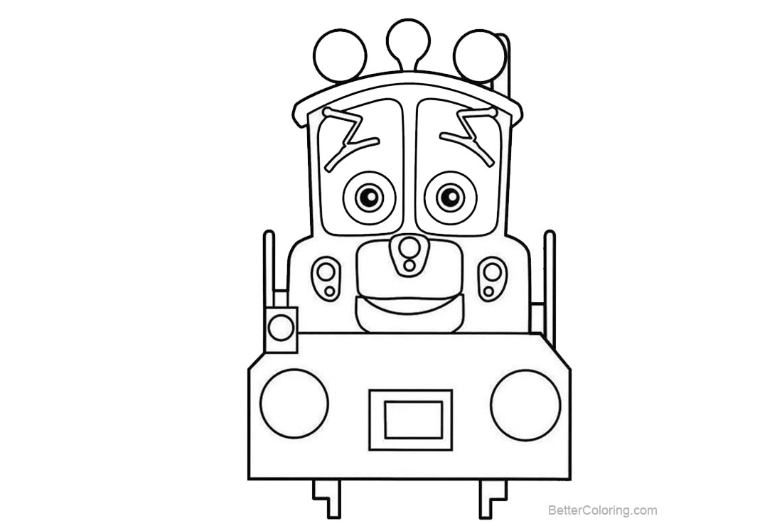 Free Chuggington Coloring Pages Lineart printable