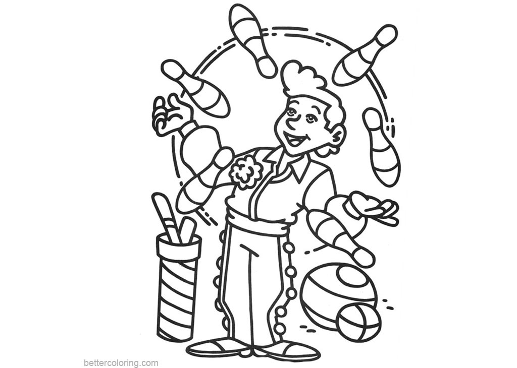 printable coloring pages circus | Circus Coloring Pages Clipart - Free Printable Coloring Pages