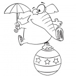 Circus Coloring Pages Elephant