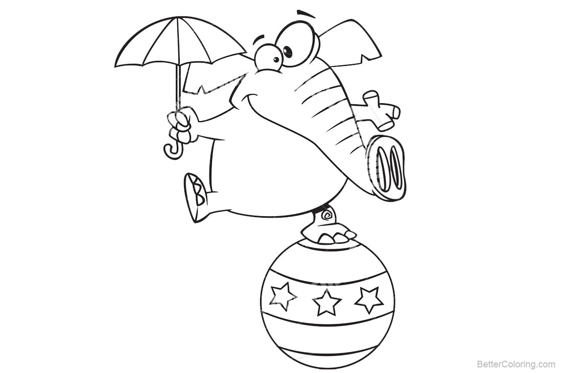 Circus Coloring Pages Elephant - Free Printable Coloring Pages