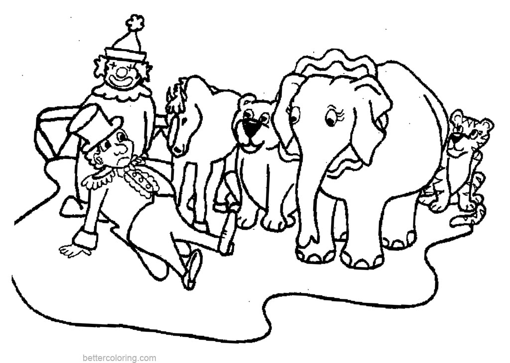 circus elephant coloring page - circus elephant coloring pages free printable coloring pages