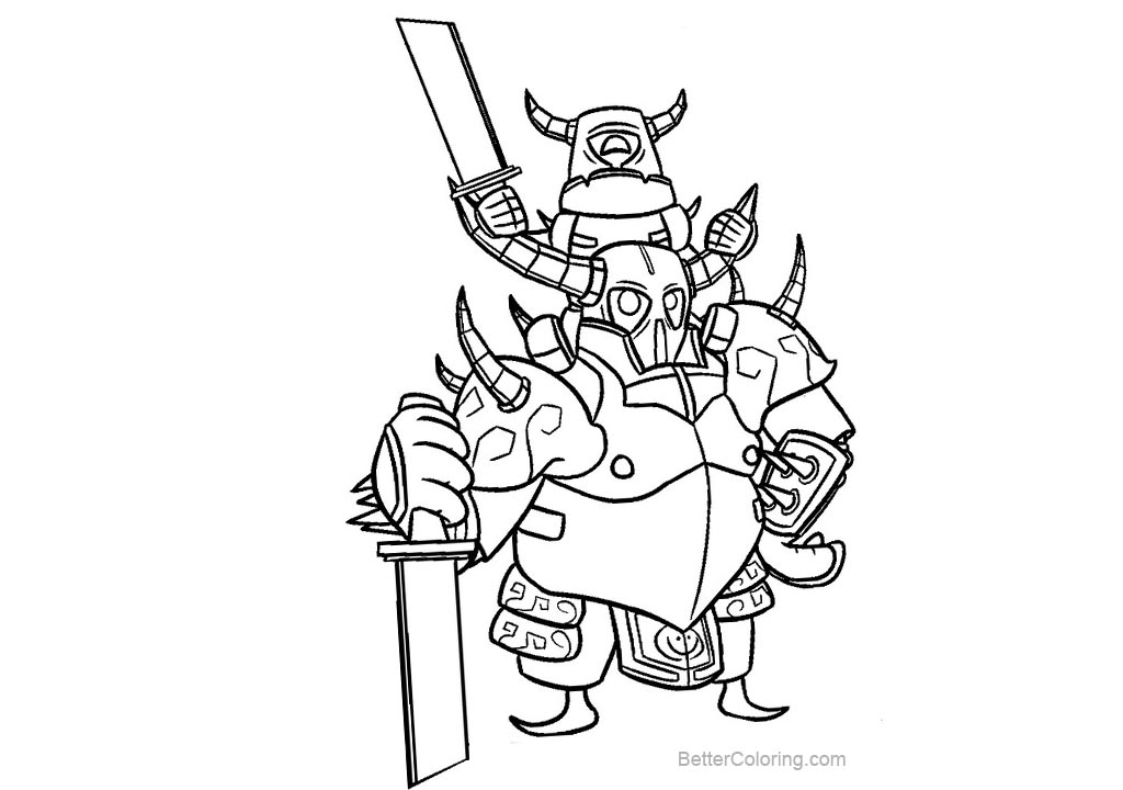 clash royale coloring pages black and white free