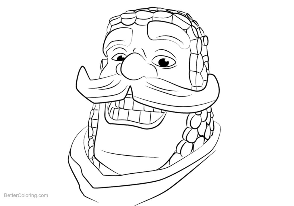 Free Clash Royale Coloring Pages Knight printable